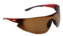 Veiligheidsbril 546 onder rood, bruin disc