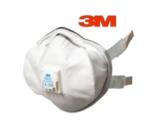 3M 8825 Stofmasker FFP2D CPC-uitademventiel 5 stuks 3M 8825