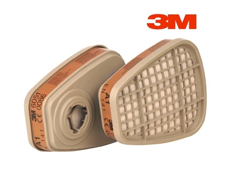 3M 6051 A1 gasfilter - dampfilter bajonet 3M 6051