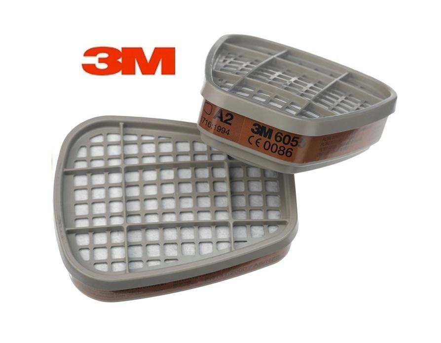 3M 6055 A2 gasfilter - dampfilter bajonet 3M 6055