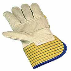 Werkhandschoen, nerflederen met gelekap en versterking Cat 2 maat 10,5