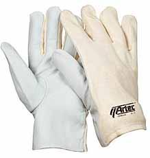Nappalederen handschoen, Tricot rug Maat 9