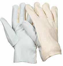 Nappalederen handschoen, Tricot rug Maat 10
