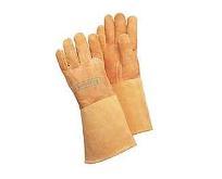 Lashandschoen softouch, bruin, ca 35cm maat. L (9) WELDAS 10-1003