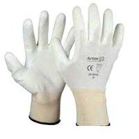 Montage Handschoen Palmgecoat PU EN 388-3120 Wit Maat. 8,