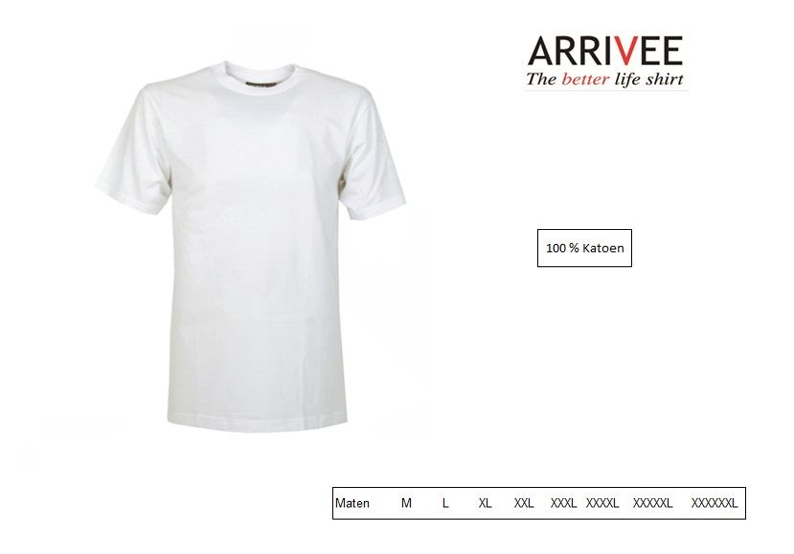 T-Shirt korte mouw Wit Maat M Arrivee 800.101