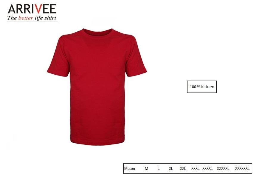 T-Shirt korte mouw Rood Maat M Arrivee 800.450