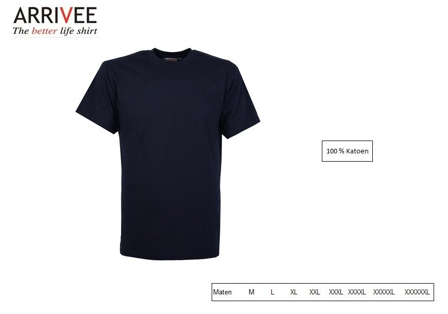 T-Shirt korte mouw Navy Maat M Arrivee 800.694