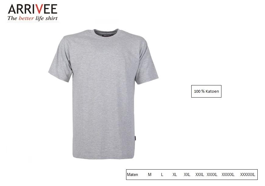 T-Shirt korte mouw Grijs Maat M Arrivee 800.923