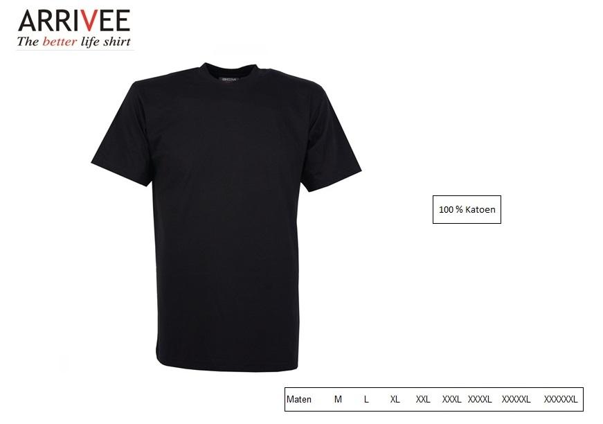 T-Shirt korte mouw Zwart Maat M Arrivee 800.999