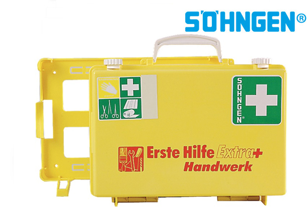 SÖHNGEN Eerste hulpcase Extra + Trade B310xH210xT130ca.mm lichtgeel DIN 13157