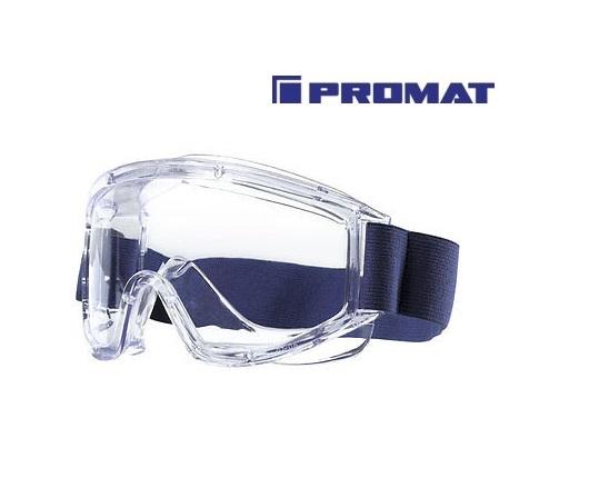 Volzicht-veiligheidsbril helder frame blauw, PC-ruit helder, niet beslaan