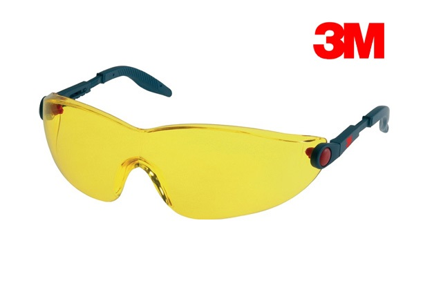 Veiligheidsbril 2740-2741-2742 EN 166 1FT geel (AS/AF/UV, PC)