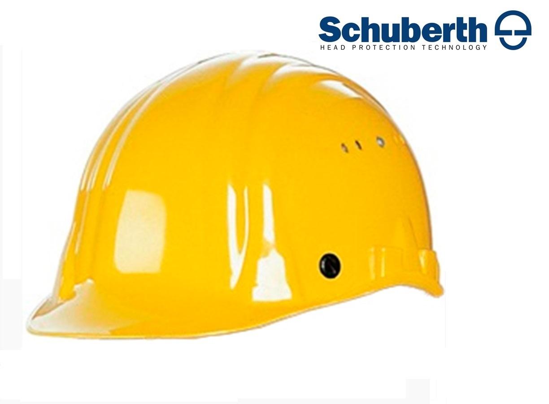 Veiligheidshelm Meesterbouwer 80/6 m. Prevention schild hogedruk polyethyleen EN 397 Geel