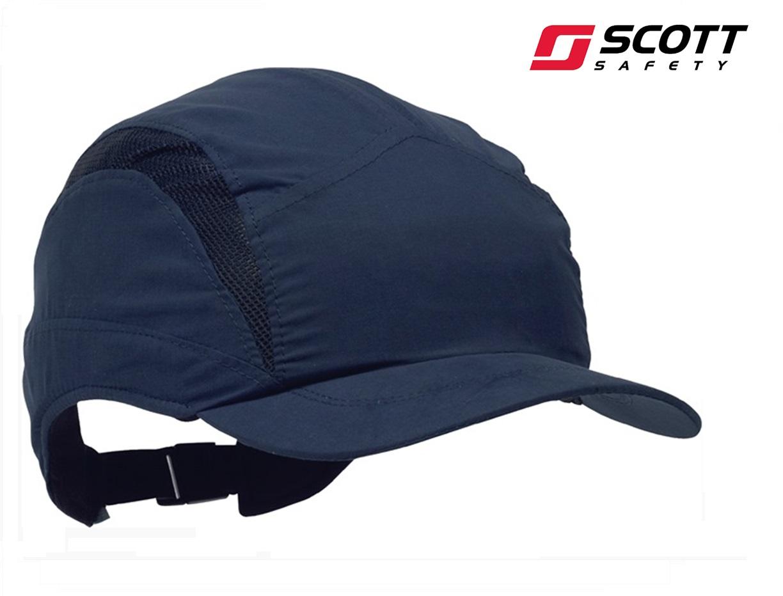 Veiligheids pet First Base 3 Classic 52-65 cm microvezels EN812: A1 Marineblauw