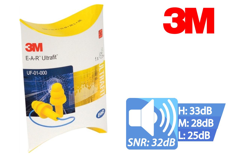 Oordopjes Ultrafit m.band vouwverpakking EAR 50paar