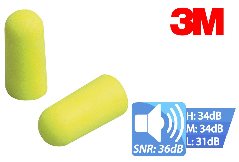Oordoppen EAR SOFT neon geel dispenser 250 setjes, EAR ES-01-001