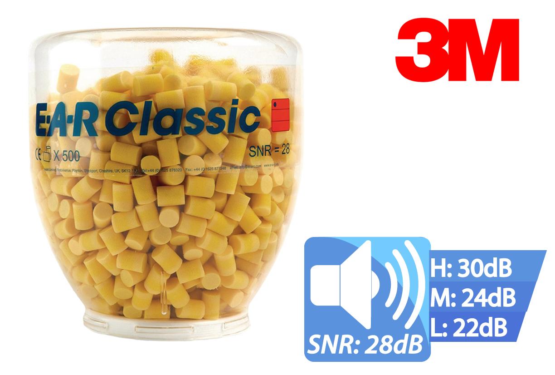 Oordoppen CLASSIC EAR navul dispenser 500 setjes, EAR PD01200