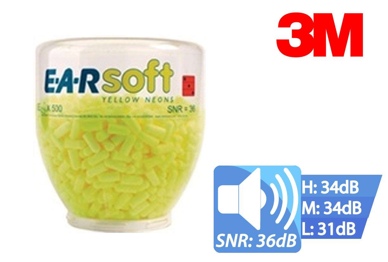 Oorbescherming EAR One Touch Pro 500 PA EARsoft Geel Neon Refills