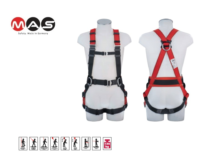 Veiligheidsharnas MAS90 EN358 EN361 maat 48-56