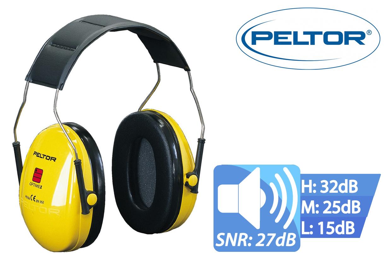 Peltor Optime I Oorkap met Hoofd Beugel SNR27, Peltor H510A