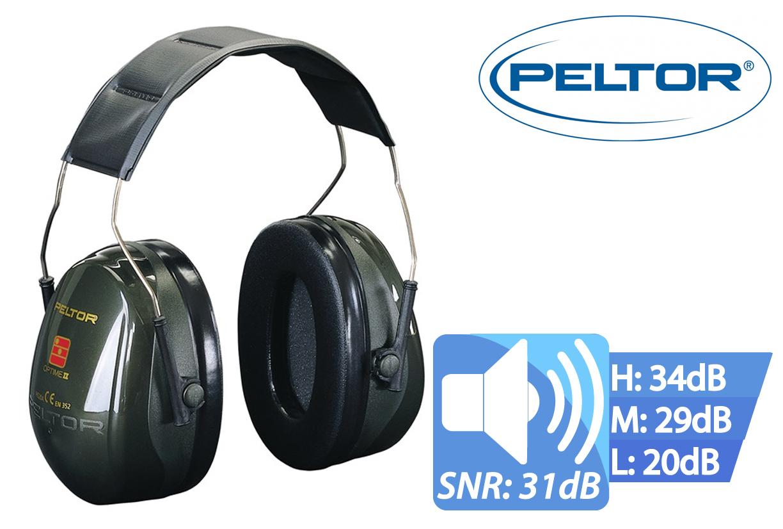 Peltor Optime II Oorkap met Hoofd Beugel SNR31 Peltor H520A-407-GQ