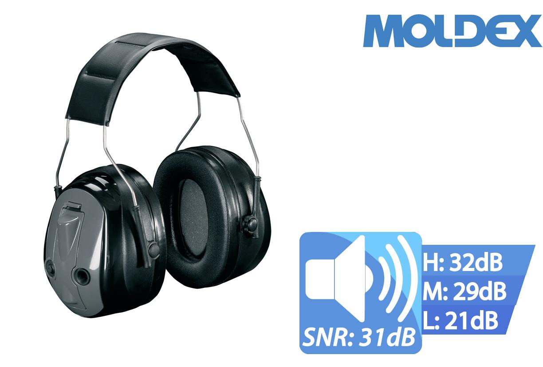 Oorbescherming OPTIME Druk om te luisteren EN 352-1-3-4 SNR 31 dB handmatig verstelbaar 3M