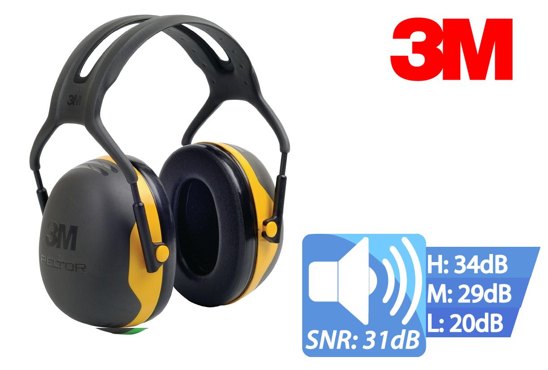 Peltor capsule gehoorbeschermer X2 met hoofdband X2A 31 dB
