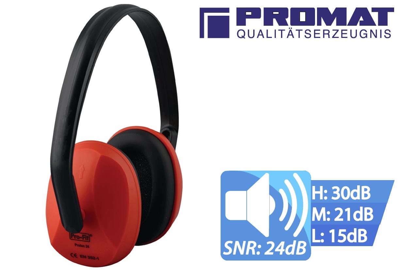 Oorbescherming Protec 24 EN 352-1 (SNR) = 24 dB verstelbare plastic riem