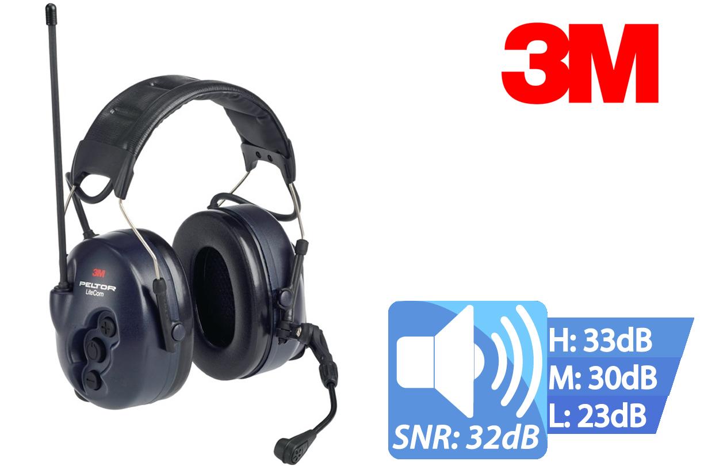 Oorbeschermingsradio Peltor LiteCom microfoon dichtbij bereik communicatie 32dB