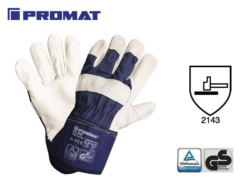 Rundnerfleren handschoen Elbe mt10 blauw gevoerd