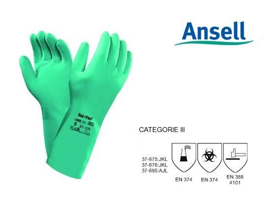 Ansell Sol-Vex 37-675 Handschoen Mt 7 Ansell