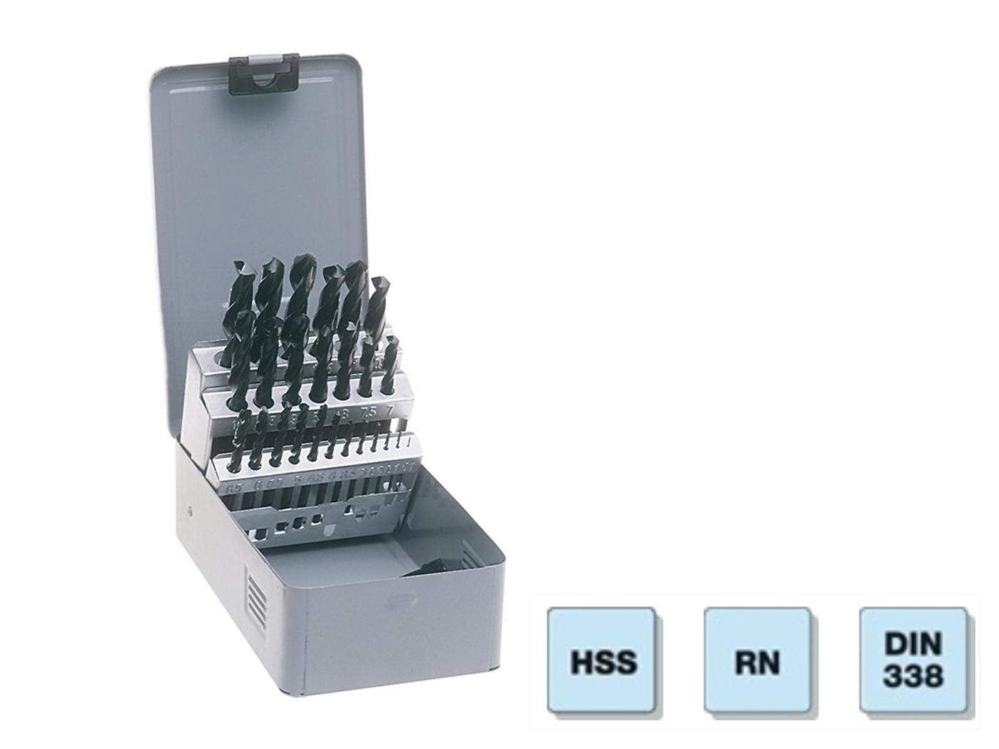 Spiraalboor rolgewalst set HSS-R 1-10/0,5mm rolgewalst