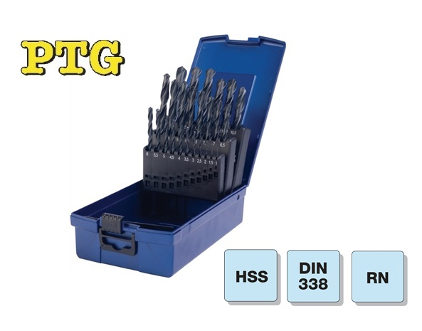 Spiraalboor set DIN 338 HSS 1,0mm-13,0mm-0,5 steigend
