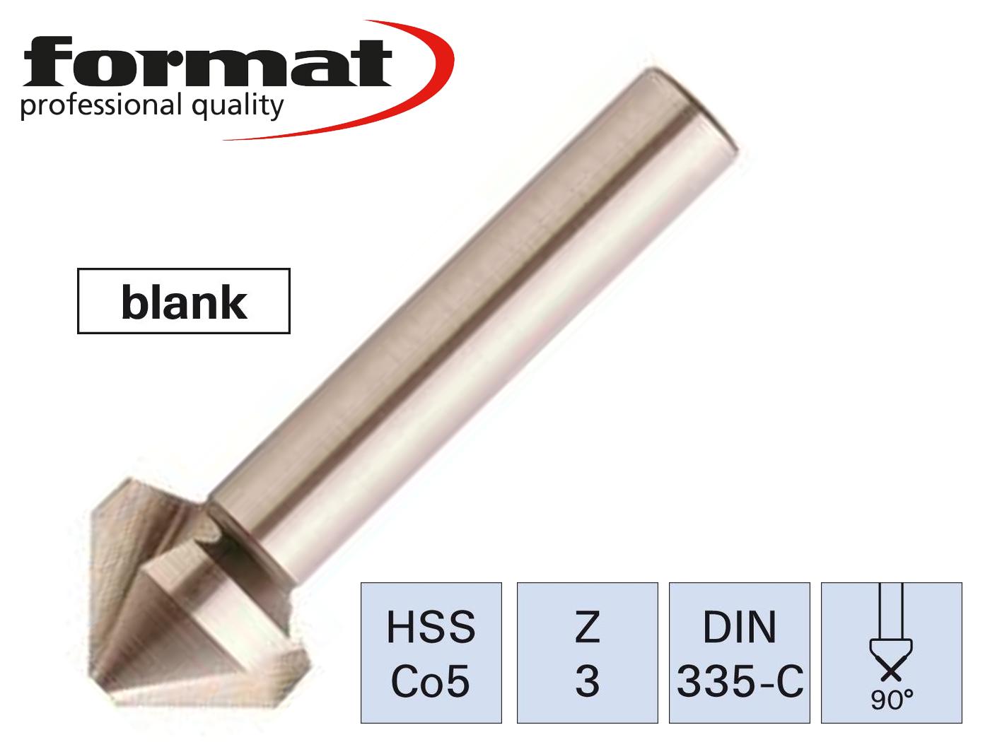 verzinkboor ongelijk verdeeld ZrN DIN335 C 90G HSS4,30mm