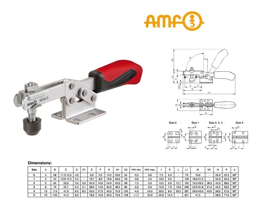 AMF Horizontale spanklem Gr.0 Nr 6830