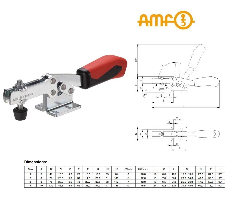 AMF Horizontale spanklem Plus Gr.2 Nr 68300