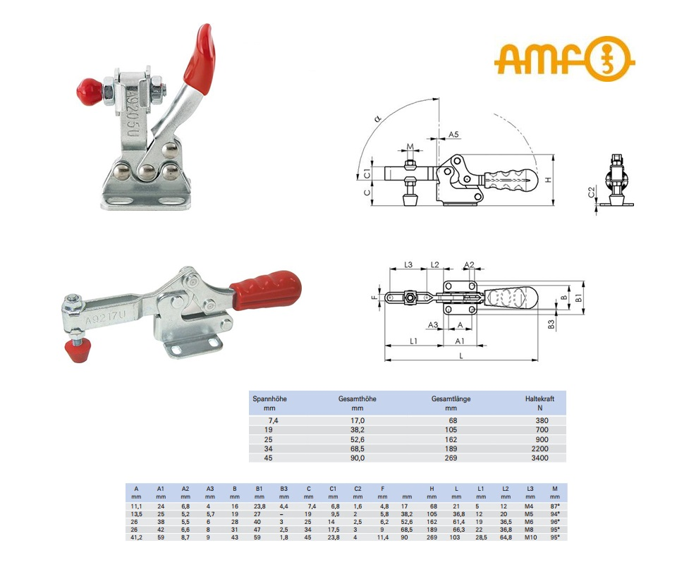 AMF Snelspanner horizontaal Gr.0