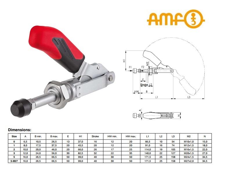 AMF Schuifstang-spanklem Gr.0 Nr.6840