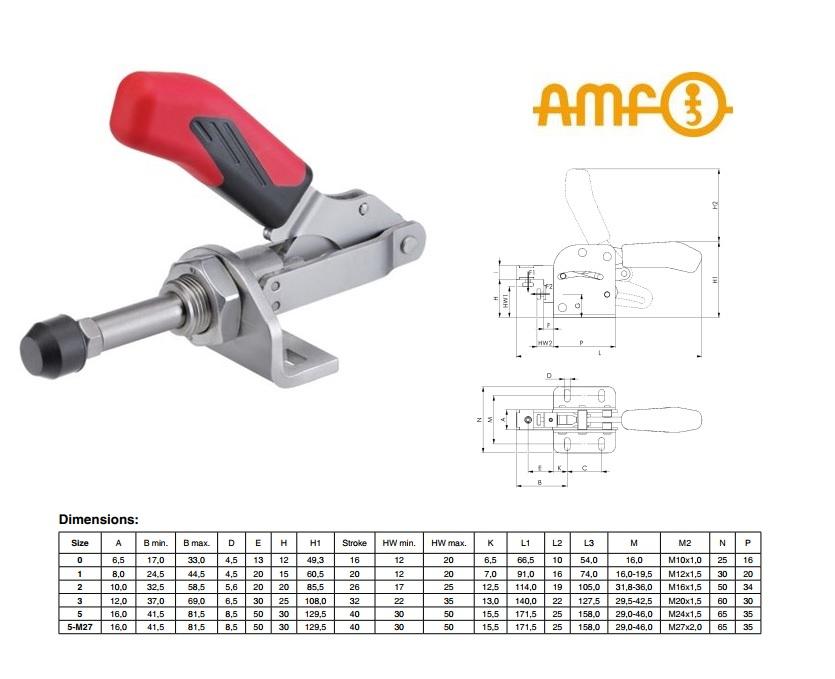 AMF Schuifstang-spanklem Gr.0 Nr.6841