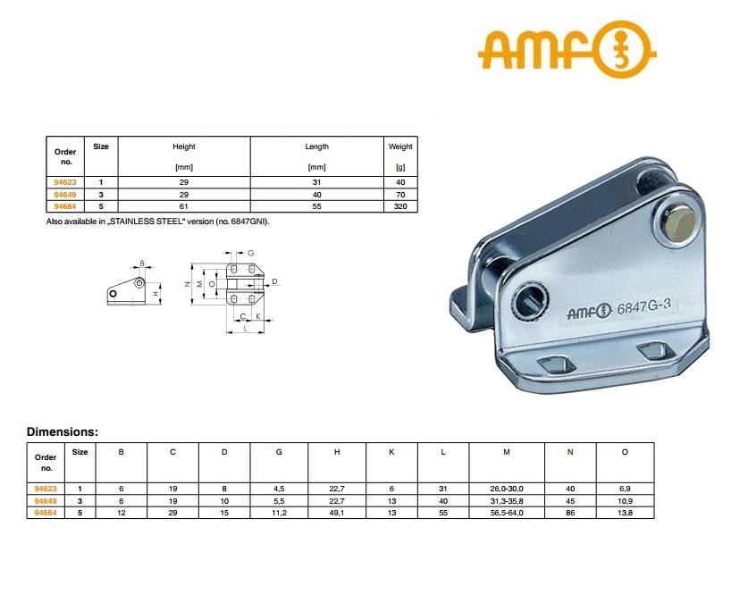 AMF Vergendelhaak Gr.1 nr.6847G