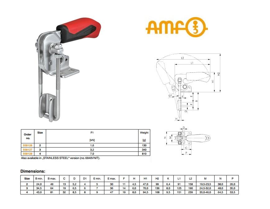 AMF Sluitspanner verticaal Gr.2 nr 6848V