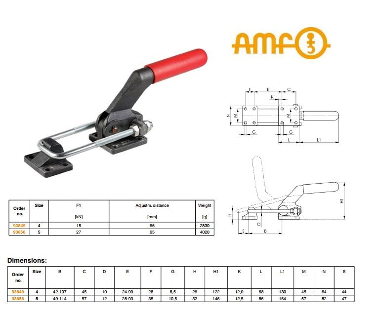 AMF Zware sluitspanner Gr 4 Nr.6849PH