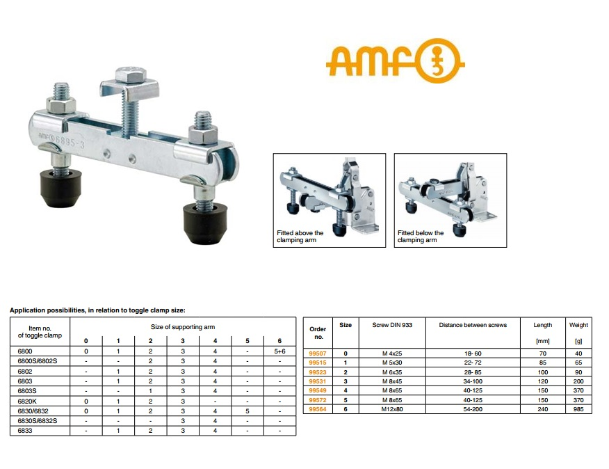 AMF Snelspanarm voor spanner Gr.0 Nr.6895