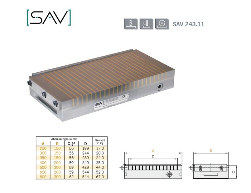 Neodymium magneetspanplaat 250x150x56mm Pooldeling P=15mm