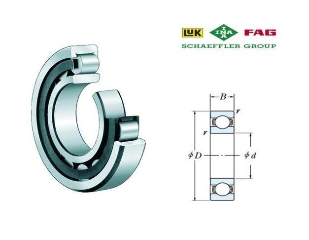 FAG NU203-E-TVP2 Cilindrische rollager d=17, D=40, B=12