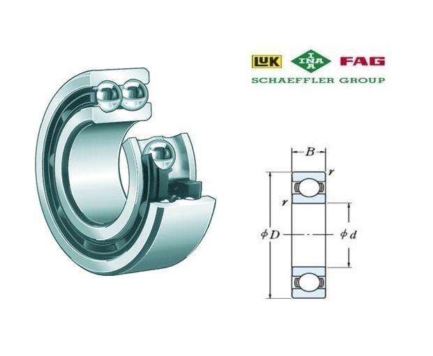 FAG 3202-B-2RSR-TVH Hoekcontactkogellager d=15, D=35, B=15,9