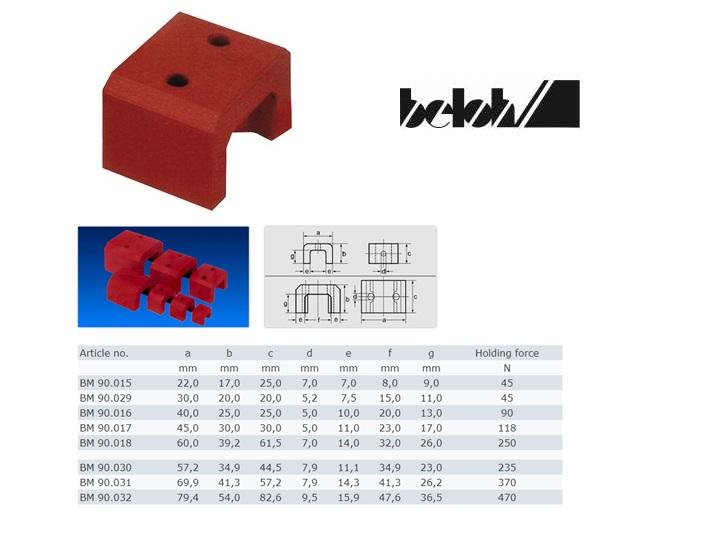Hoefijzermagneet 57,2x34,9x44,5mm 235N AINiCo 500