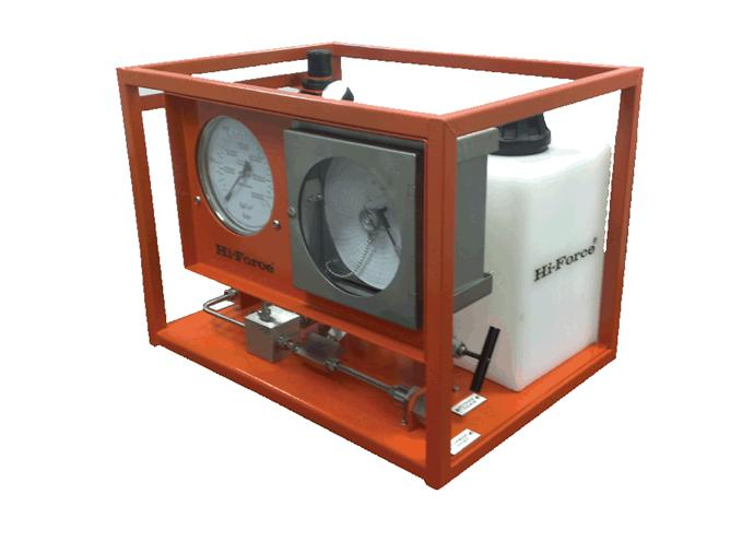 Lucht aangedreven hydrotest pomp - chart recorder Hi Force AHP107-CR