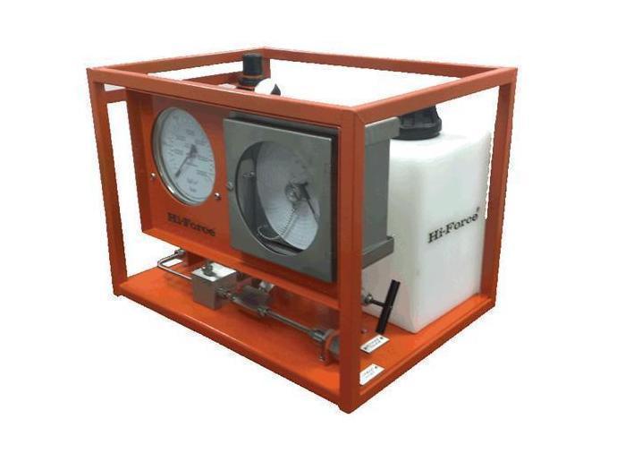 Pneumatisch hydraulische testpomp met recorder Hi Force AHP2-237CR